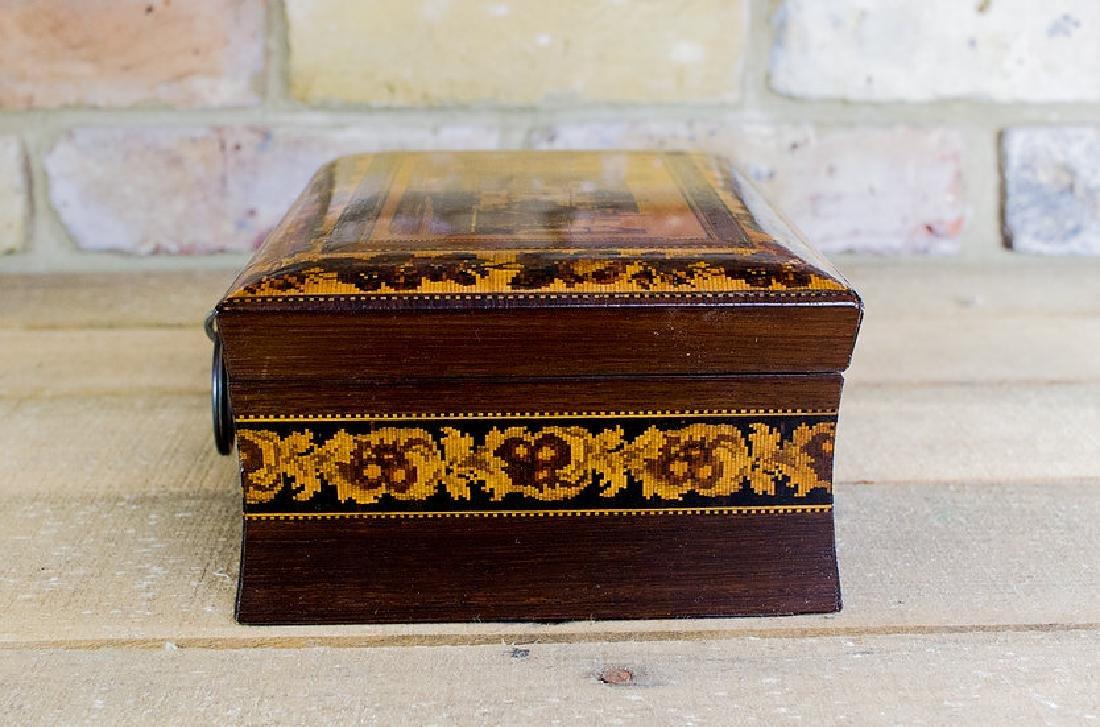 Rare collectors Tunbridge ware work box c.1870 - 7