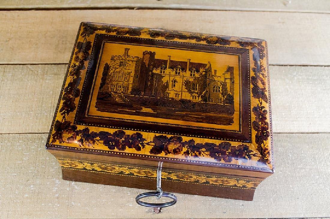 Rare collectors Tunbridge ware work box c.1870 - 8