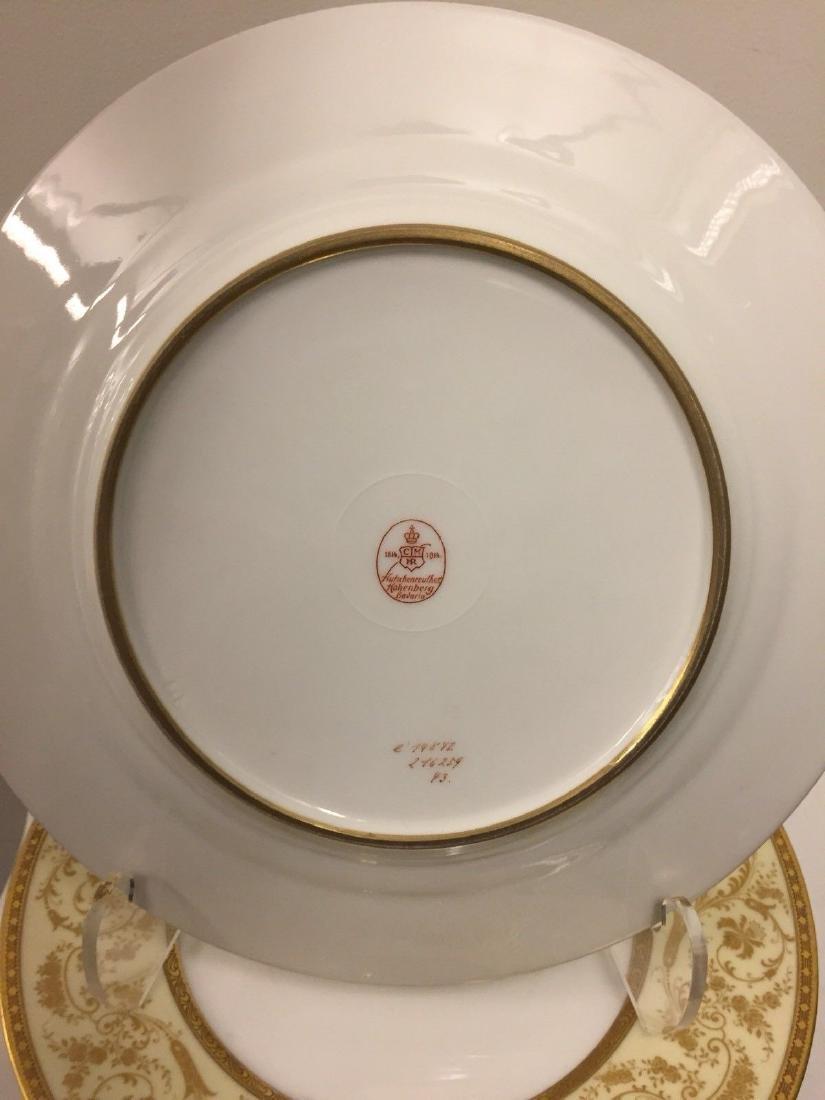 Set of 11 Antique German Porcelain Dinner Plates, 1900 - 5
