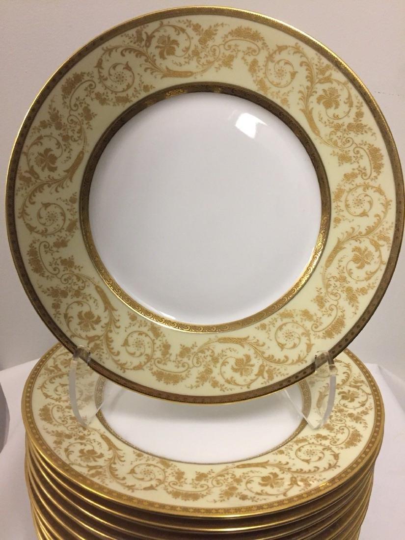 Set of 11 Antique German Porcelain Dinner Plates, 1900 - 7