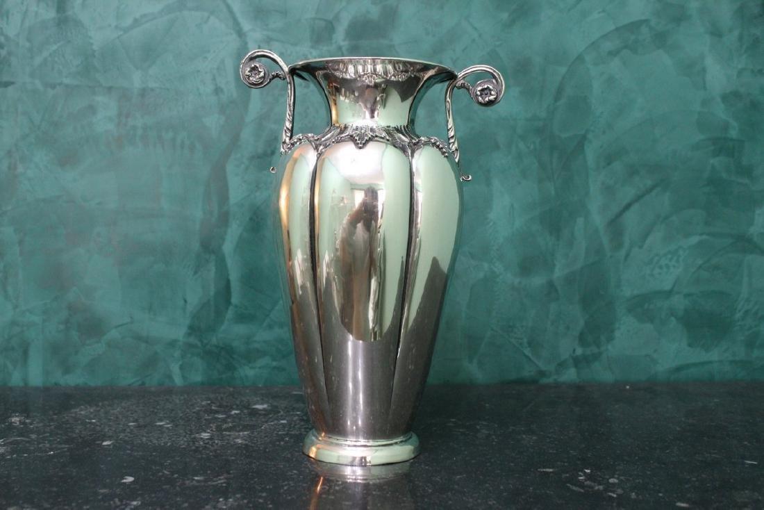 Italian Silver Flower Vase, 1950s