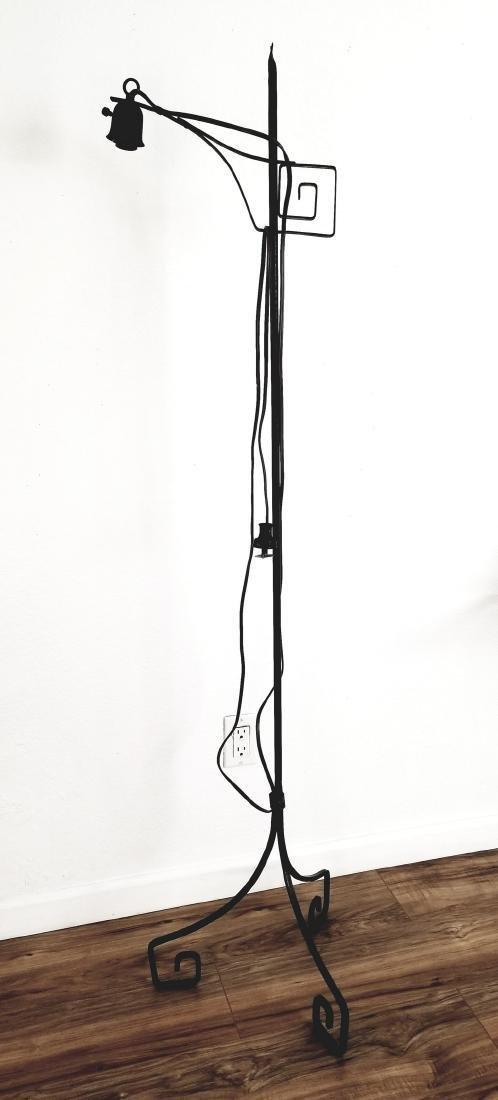 1910 Art Deco Wrought Iron Floor Lamp
