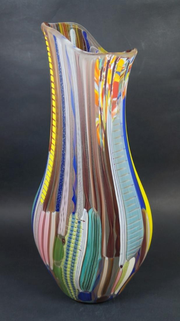 MURANO GLASS VASE TESSUTO - MADE MURANO GLASS - 10