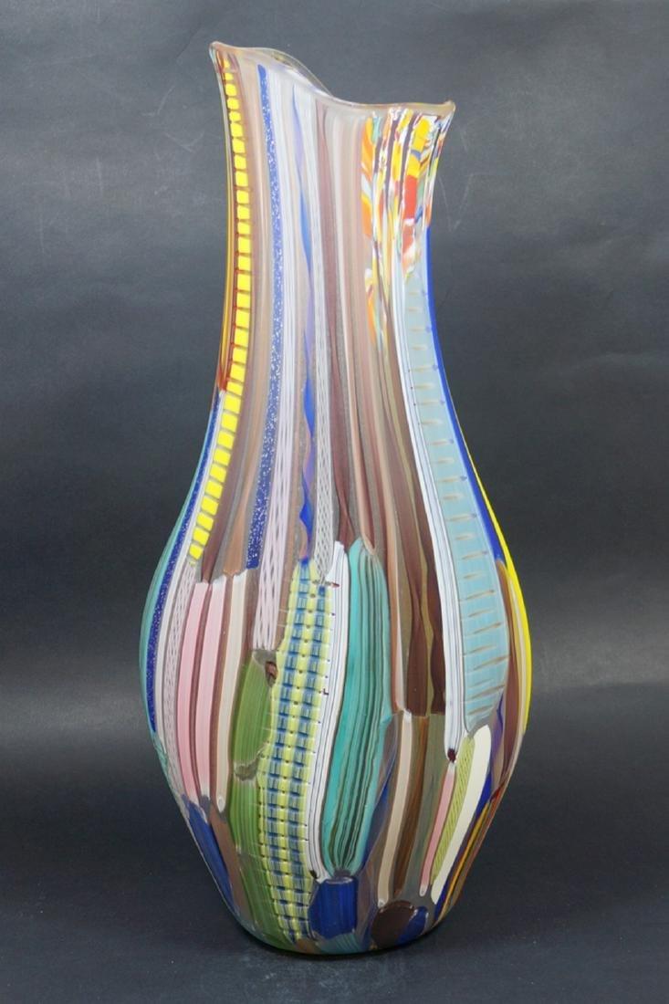 MURANO GLASS VASE TESSUTO - MADE MURANO GLASS - 2
