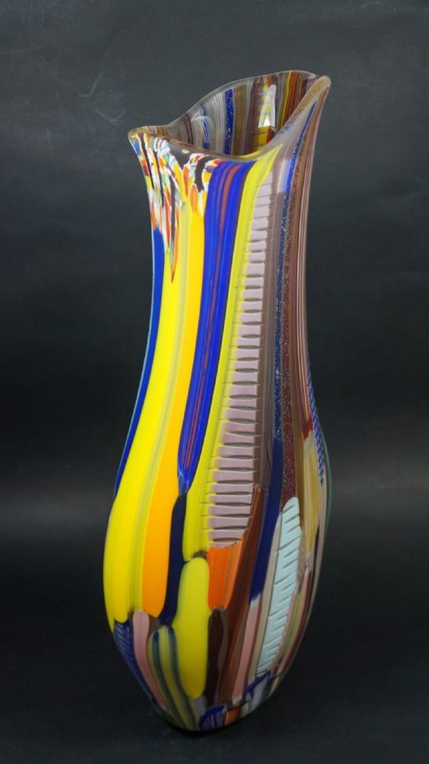 MURANO GLASS VASE TESSUTO - MADE MURANO GLASS - 8