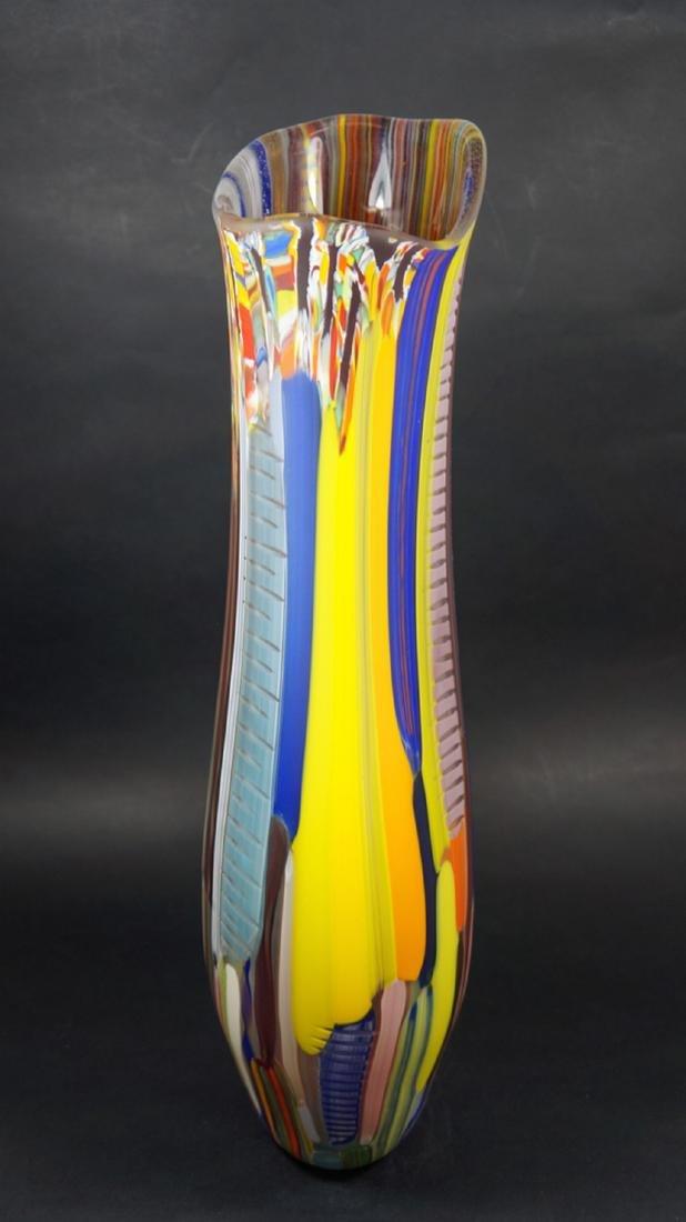 MURANO GLASS VASE TESSUTO - MADE MURANO GLASS - 9