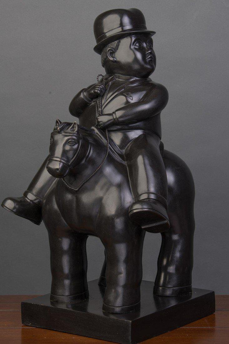 Large Signed Botero sculpture, bears Italian foundry