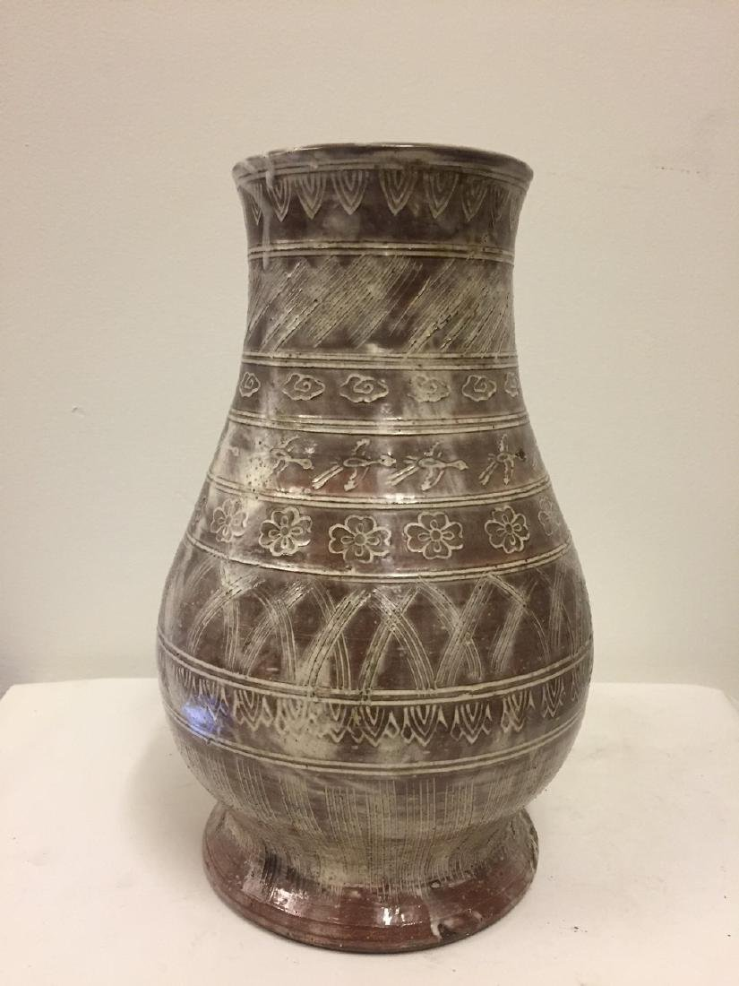 Asian Style Coffee Glazed Ground Vase, circa 1900