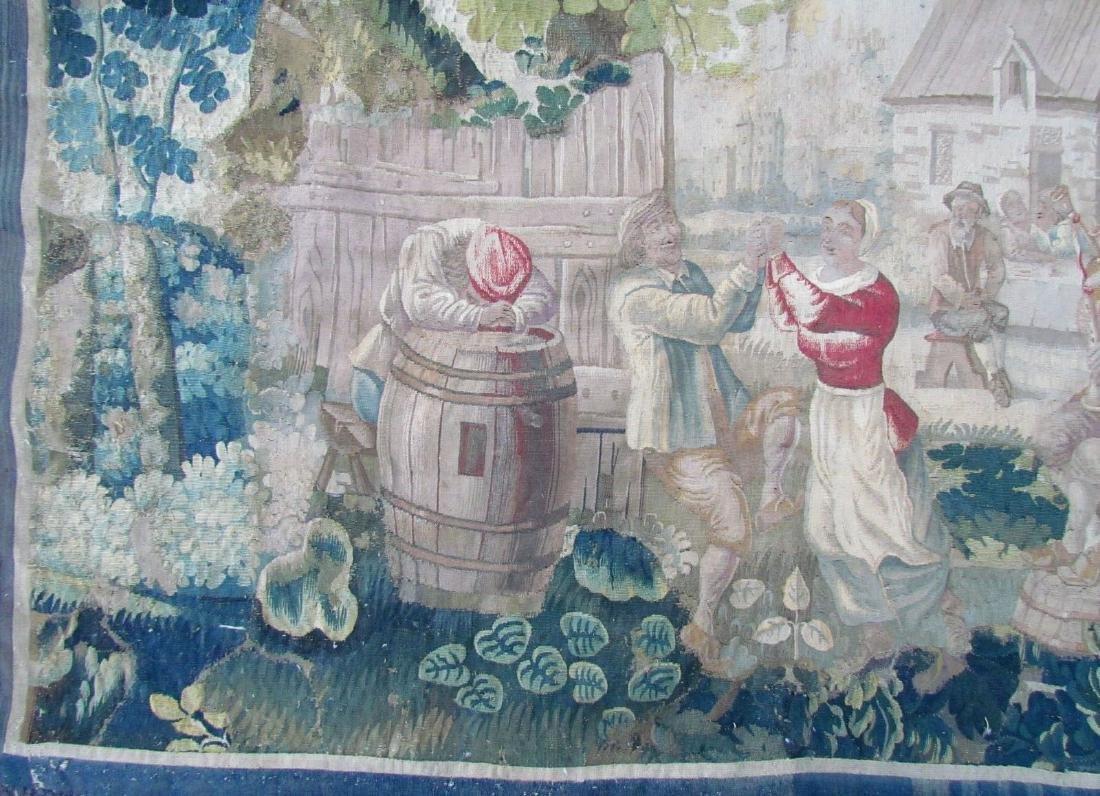 Original 17th CENTURY ANTIQUE TAPESTRY - 3
