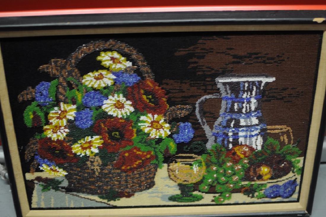 Folk Art Beadwork Picture