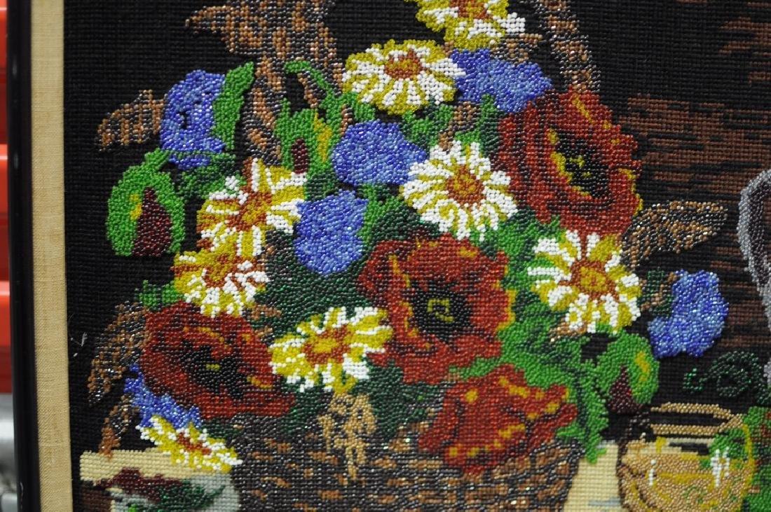 Folk Art Beadwork Picture - 3