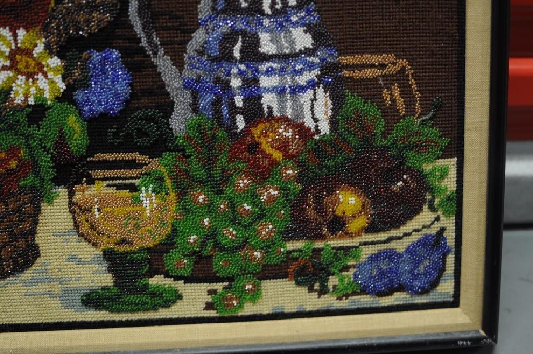 Folk Art Beadwork Picture - 4