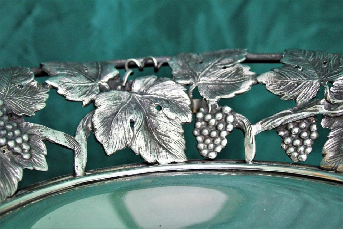 Italian Silver hand crafted Fruit Stand, 1930s - 4