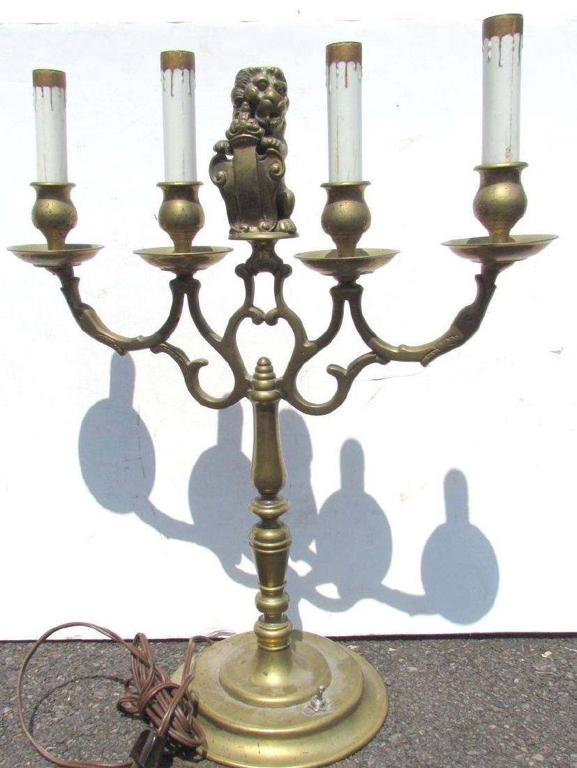 UNUSUAL ANTIQUE DUTCH BRONZE CANDELABURM