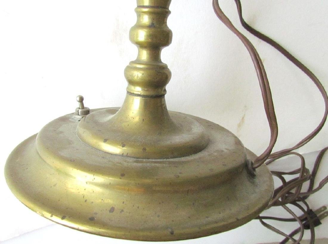 UNUSUAL ANTIQUE DUTCH BRONZE CANDELABURM - 7