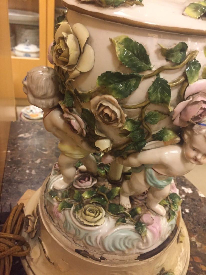 Antique German Porcelain Figural Lamp, circa 1890 - 10