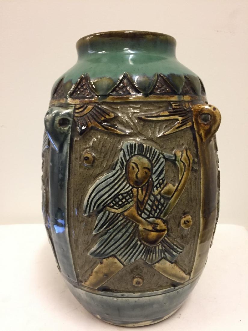 Asian Archaic Style Glazed Porcelain Vase, 19th cent - 3