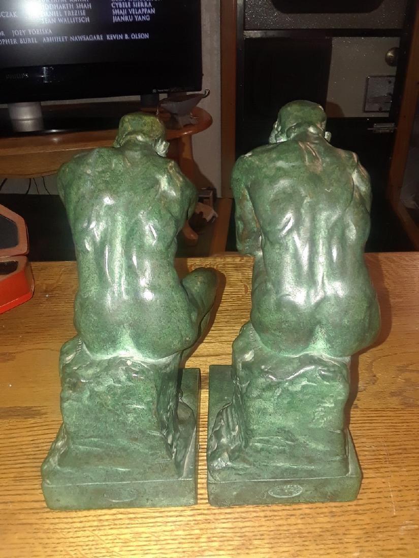 Pompeain bronze company thinker book statues - 5