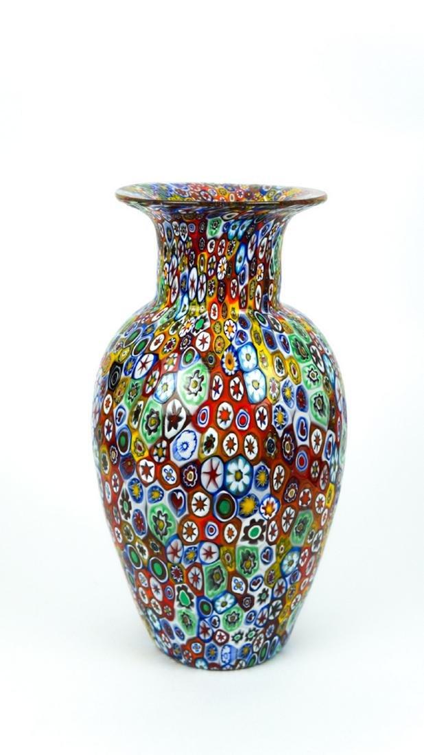 MURANO GLASS VASE MILLEFIORI