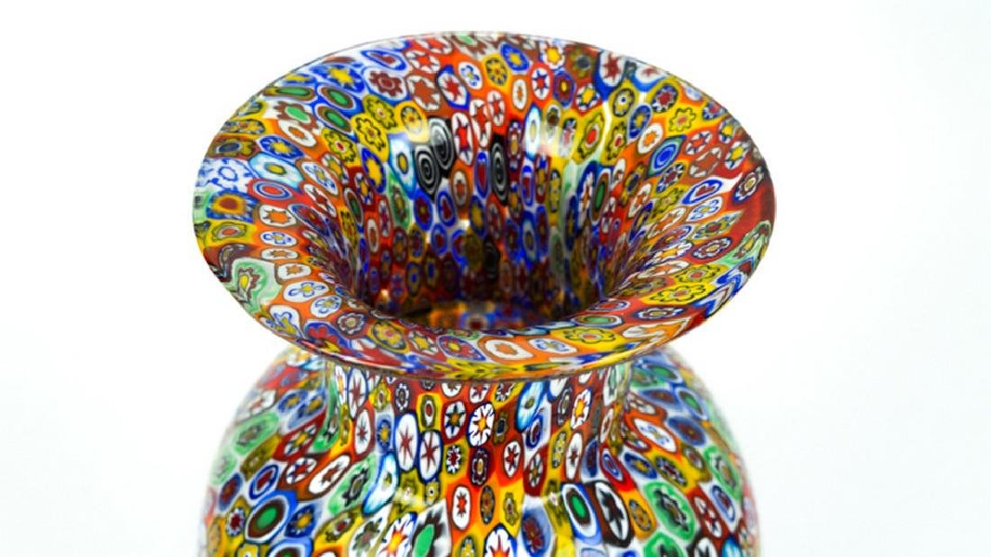 MURANO GLASS VASE MILLEFIORI - 4