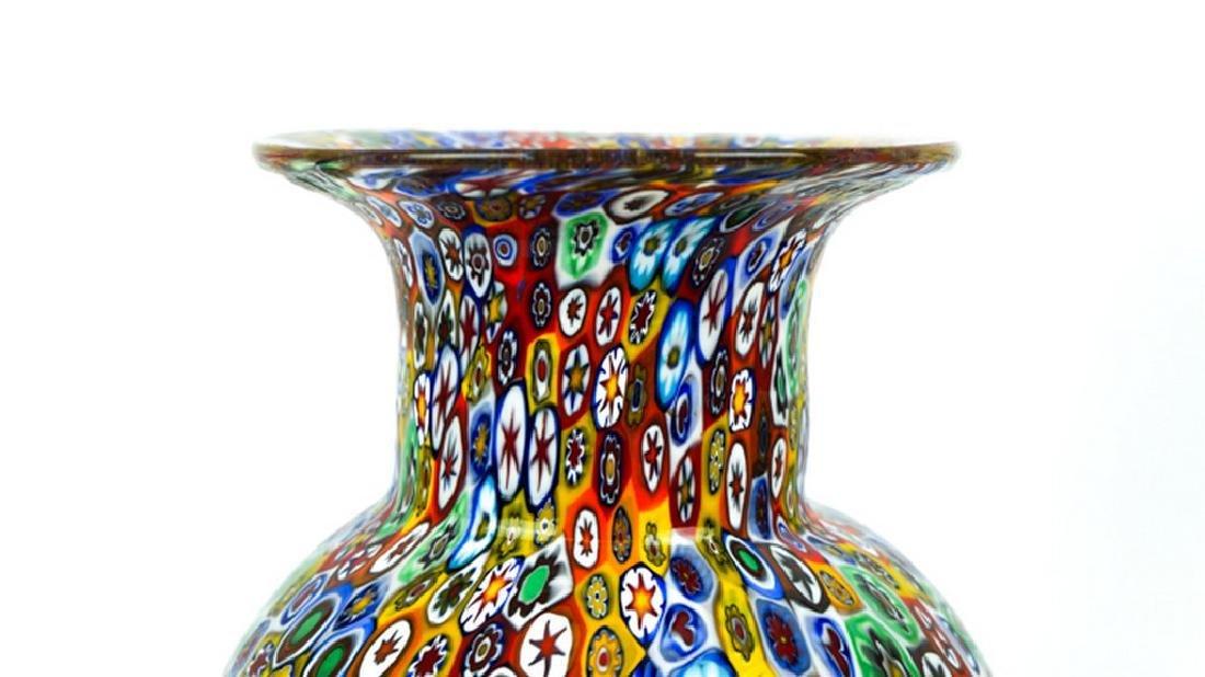 MURANO GLASS VASE MILLEFIORI - 5