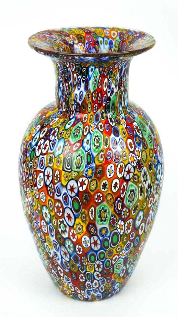 MURANO GLASS VASE MILLEFIORI - 7