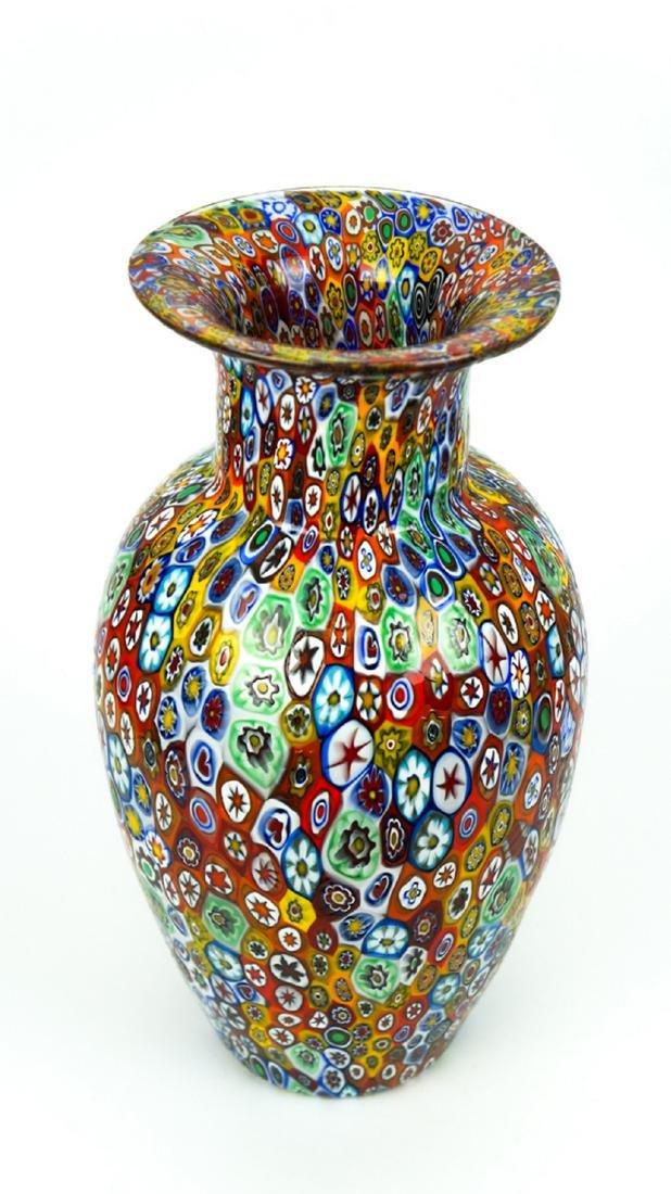 MURANO GLASS VASE MILLEFIORI - 9
