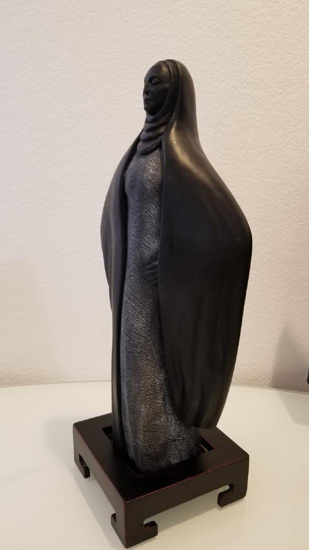 Native American in Cloak Sculpture