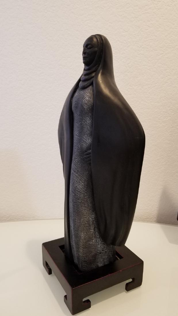 Native American in Cloak Sculpture