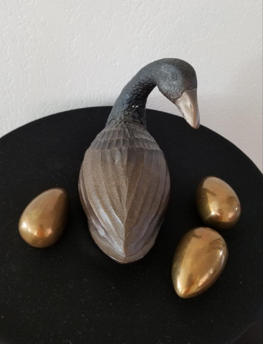 Lot of 4 Items - Mid Century Duck Decoy and Copper Eggs - 2