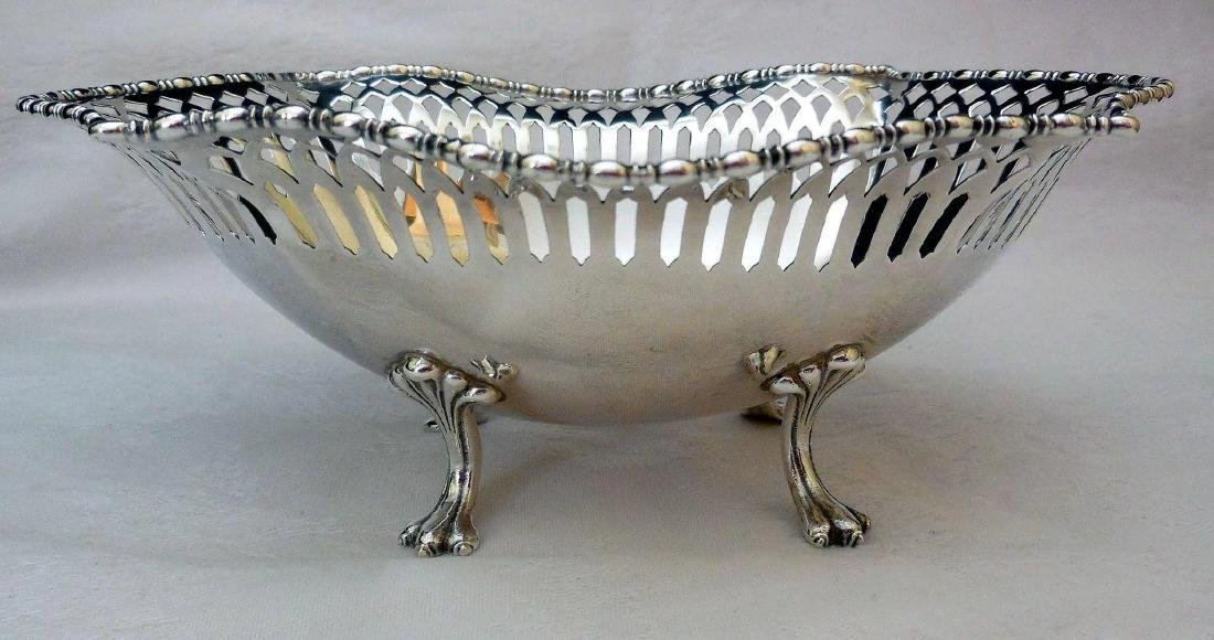 Antique Sterling Silver Footed Bowl - 2