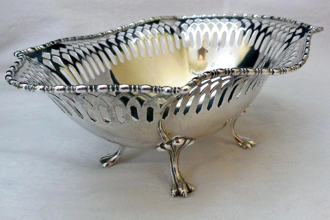 Antique Sterling Silver Footed Bowl - 5