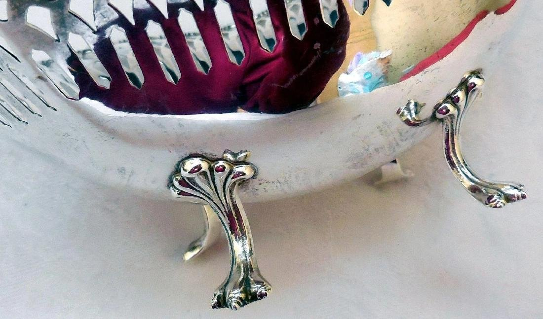 Antique Sterling Silver Footed Bowl - 8