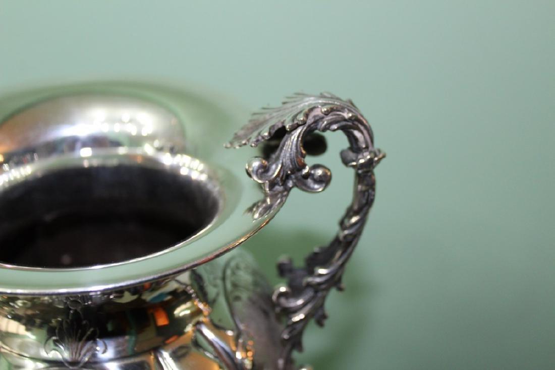 Italian Silver Engraved Flower Vase, 1950s - 5