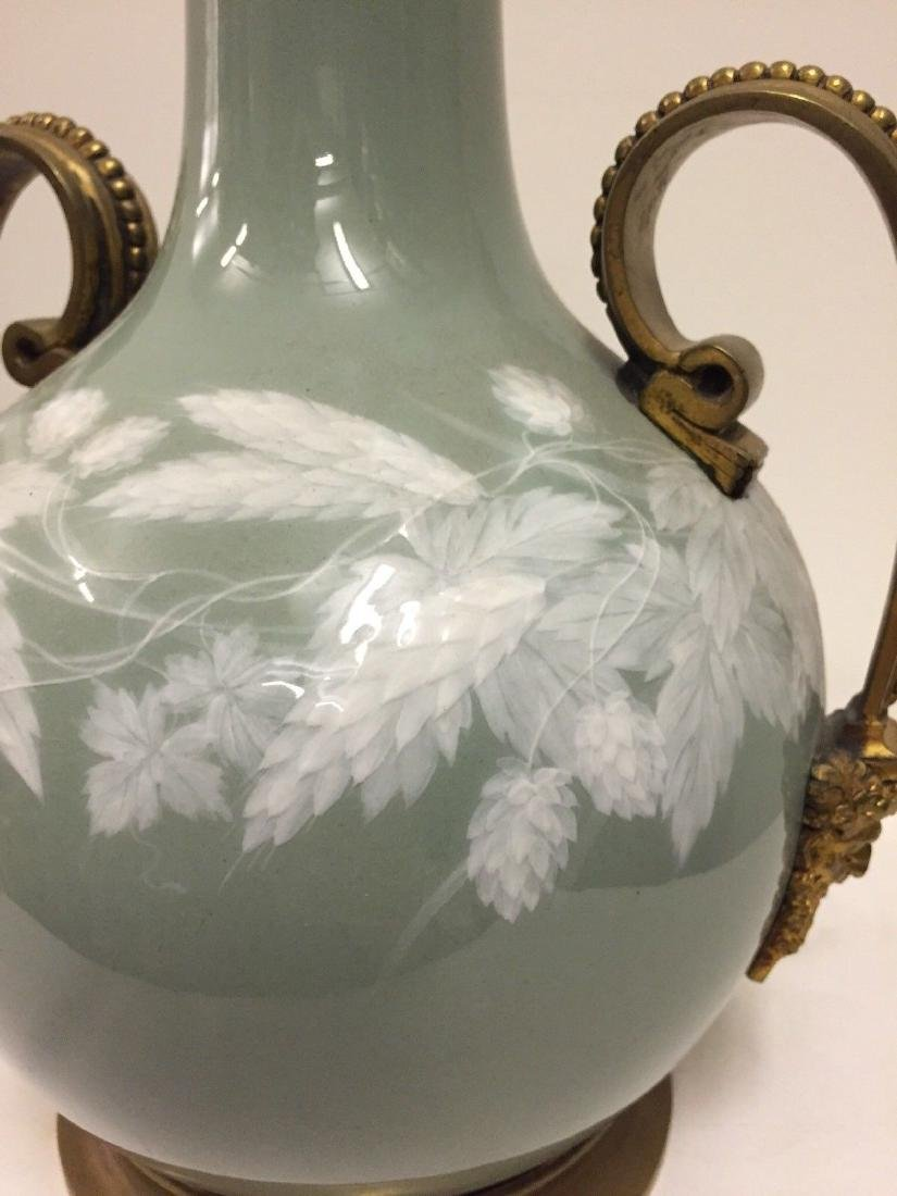 Bronze Mounted French Porcelain Pate-Sur-Pate Vase 1900 - 6