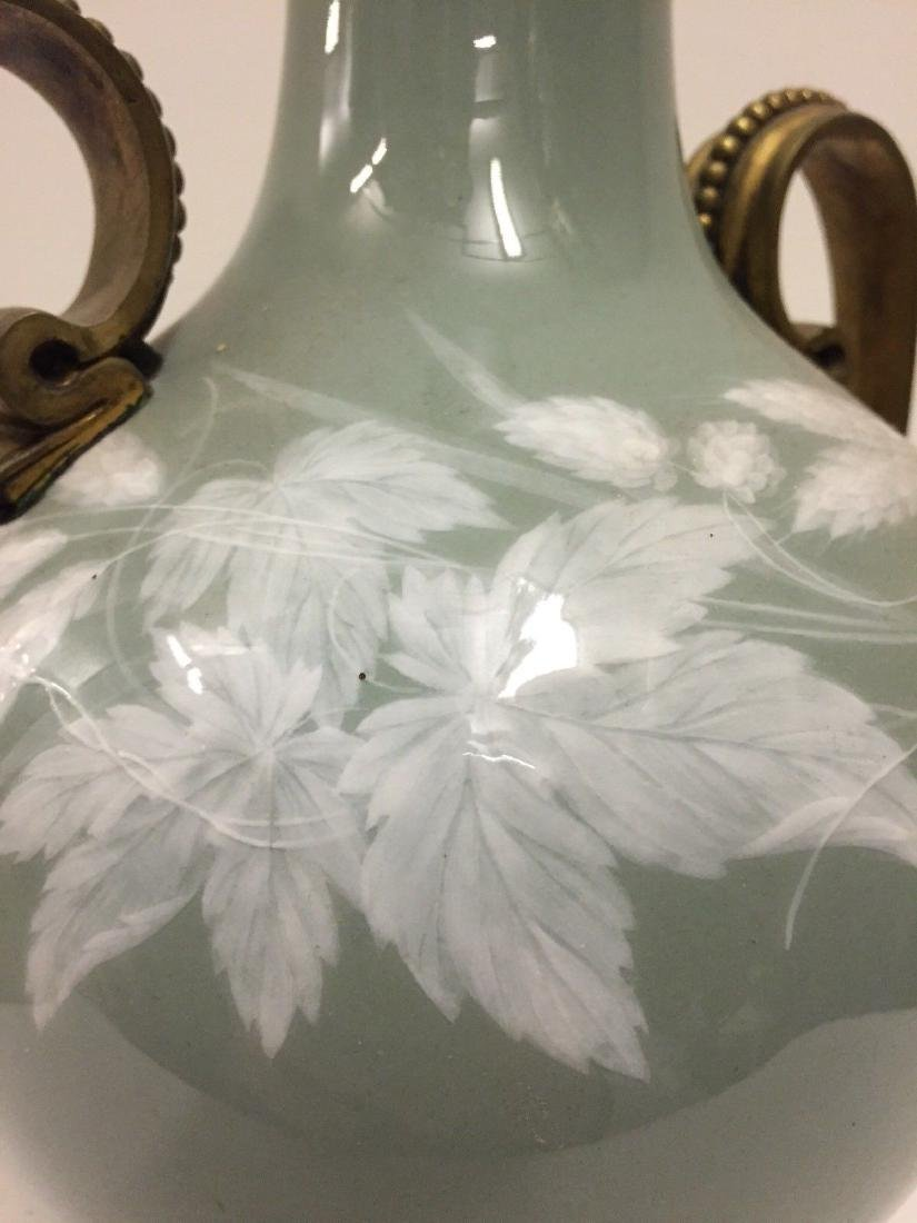 Bronze Mounted French Porcelain Pate-Sur-Pate Vase 1900 - 7