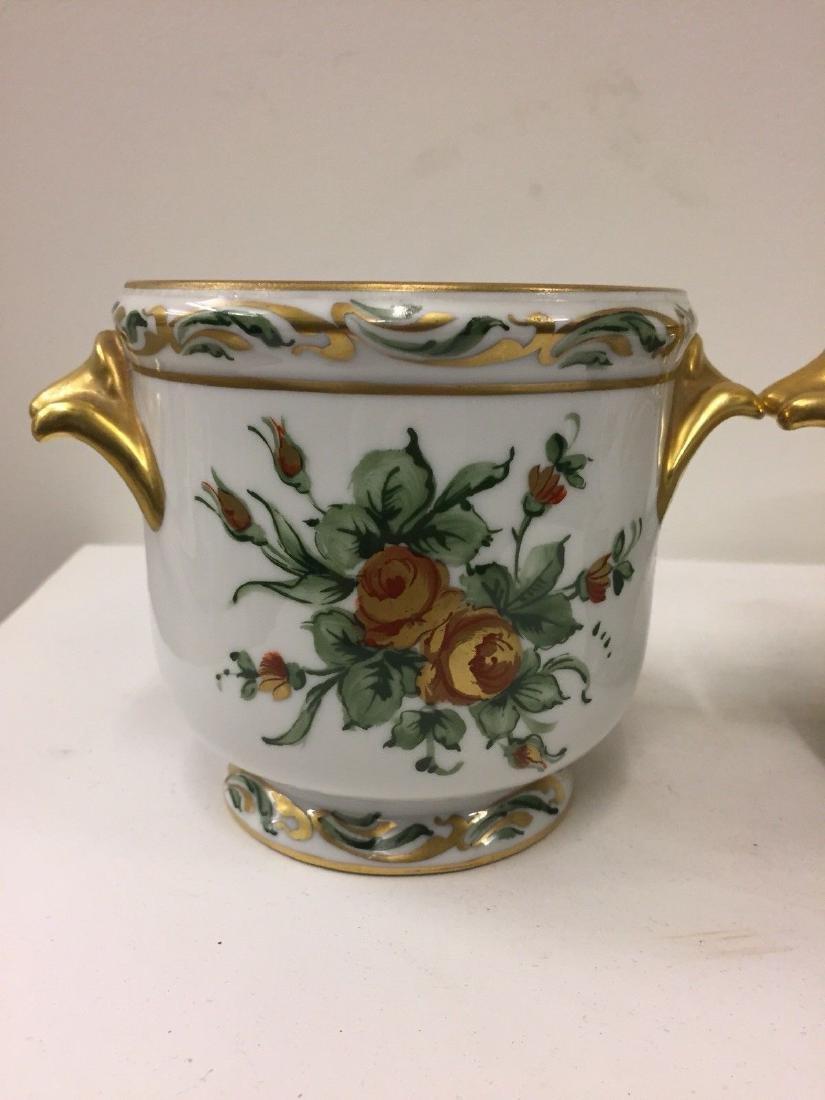 Antique French Porcelain Limoges Cachepots, 20th Cent. - 2