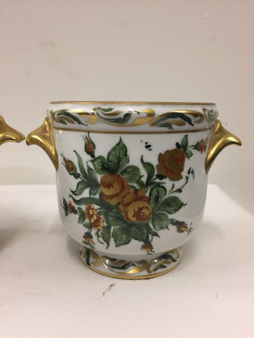 Antique French Porcelain Limoges Cachepots, 20th Cent. - 3