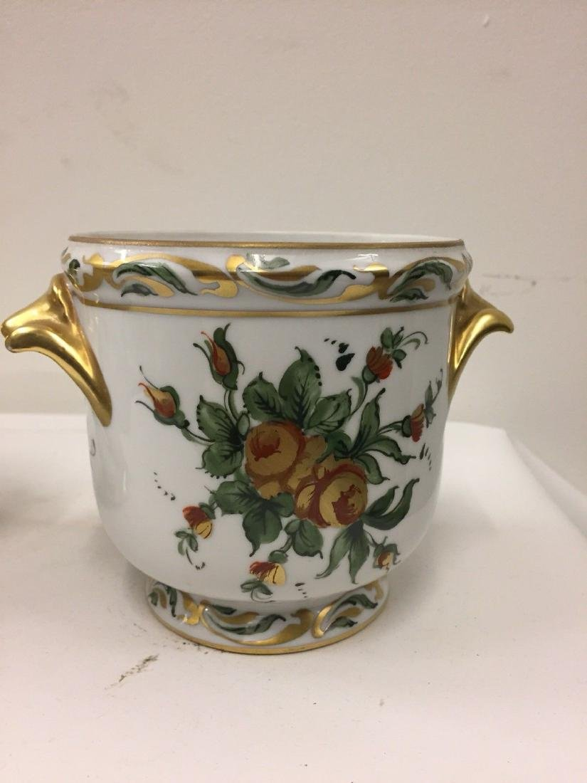 Antique French Porcelain Limoges Cachepots, 20th Cent. - 5