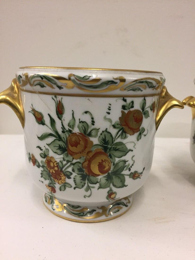 Antique French Porcelain Limoges Cachepots, 20th Cent. - 6