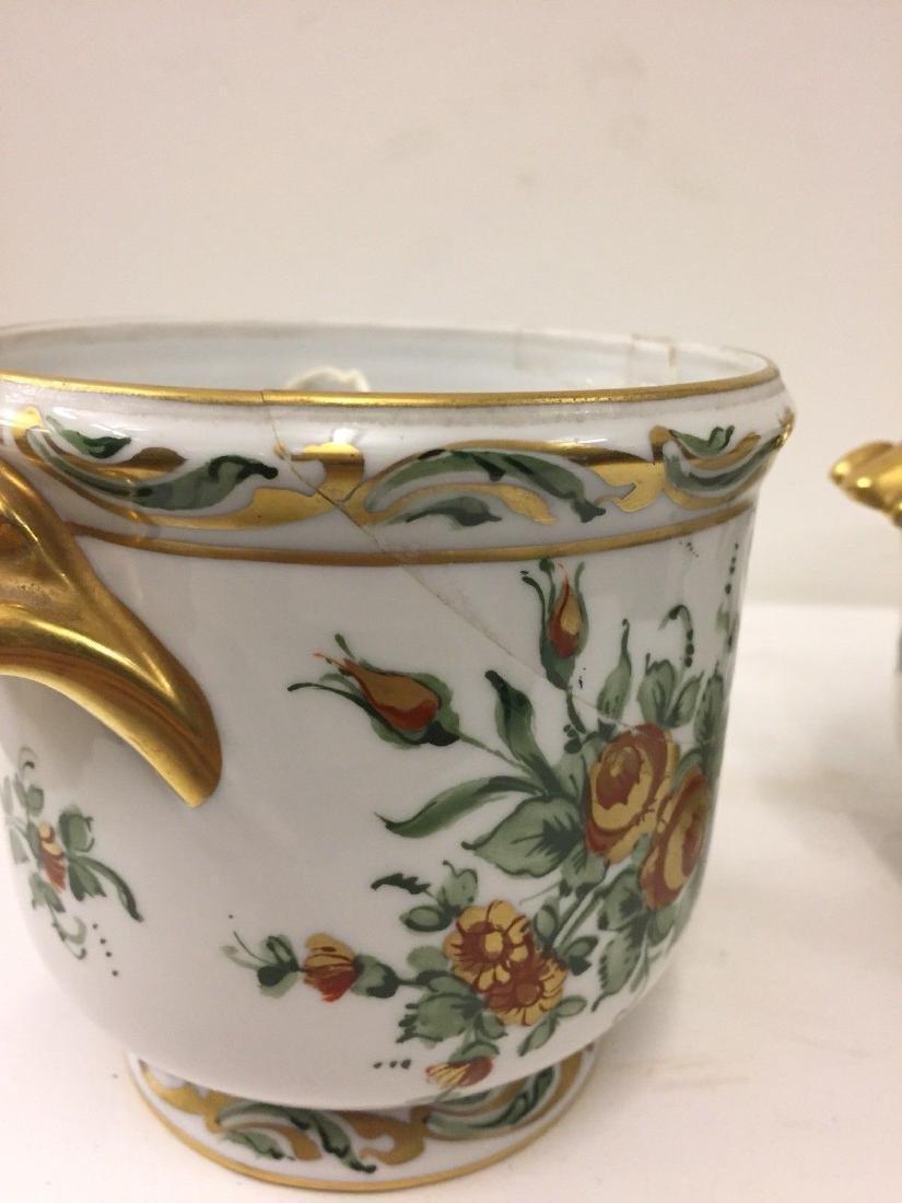 Antique French Porcelain Limoges Cachepots, 20th Cent. - 8