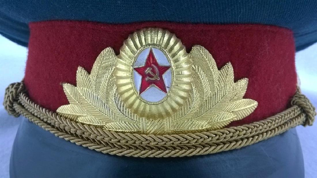?eremonial headgear an officer of Soviet Army - 3