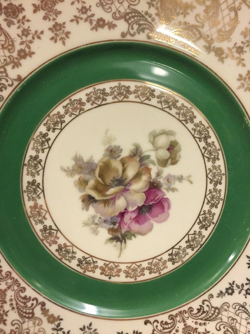 12 Czechoslovakia Porcelain Dinner Plates, 20th cent. - 2