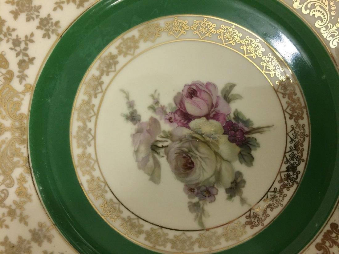 12 Czechoslovakia Porcelain Dinner Plates, 20th cent. - 5