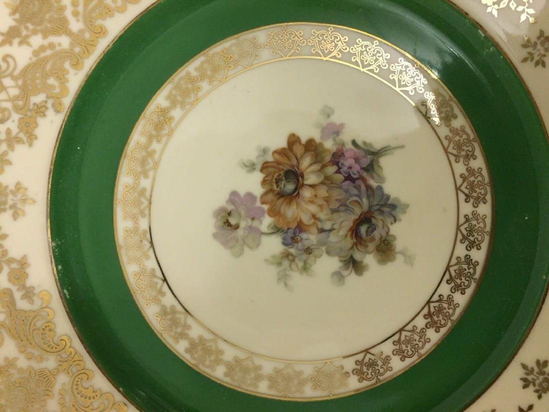 12 Czechoslovakia Porcelain Dinner Plates, 20th cent. - 6