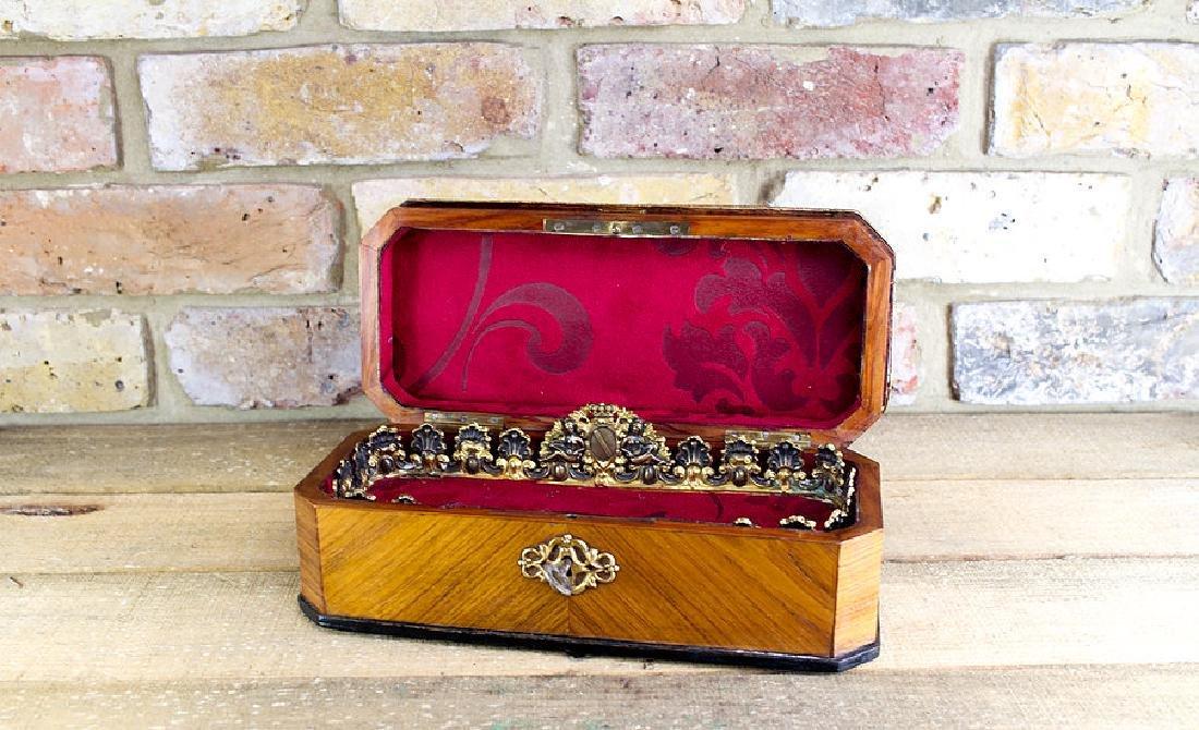 Ladies Kingwood Box brass bound c.1880