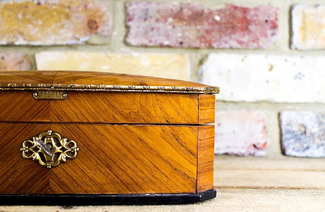 Ladies Kingwood Box brass bound c.1880 - 2
