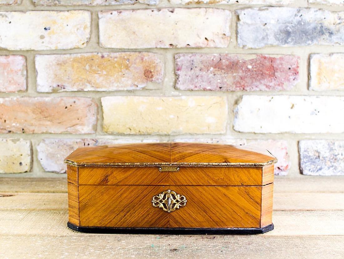 Ladies Kingwood Box brass bound c.1880 - 6