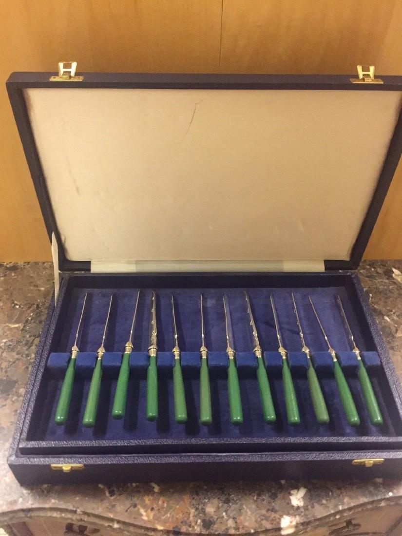 Set Of Twenty Four Antique English Forks & Knives