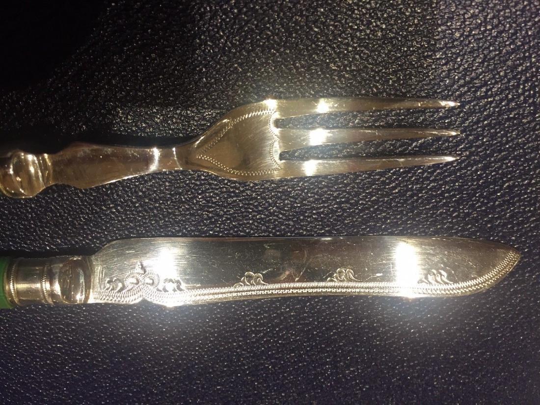 Set Of Twenty Four Antique English Forks & Knives - 3